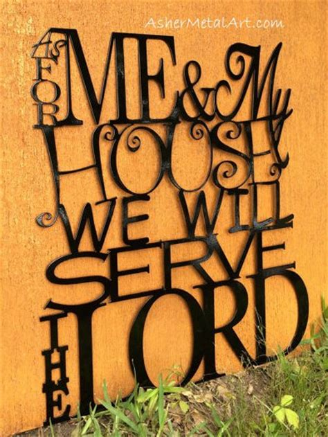 as for me and my house sign as for me my house we will serve the lord from joshua 24 15 metal wall hanging