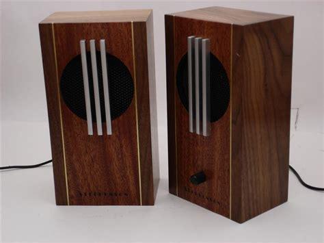 attractive computer speakers beautiful hand made wooden computer speakers boing boing