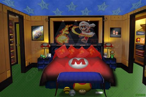 super mario bedroom decor mario s bedroom by jayjaxon on deviantart