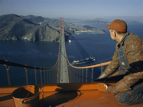 what color is the golden gate bridge painting the golden gate national geographic society