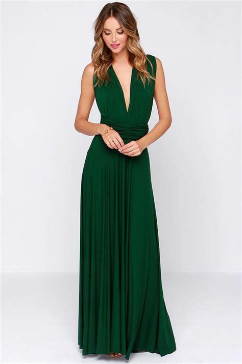 Greeny Dress green maxi on hashtag and