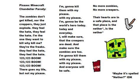 I M On One Parody Lyrics In Description | minecraft pixaxe chandelier parody lyrics by amyrose376 on