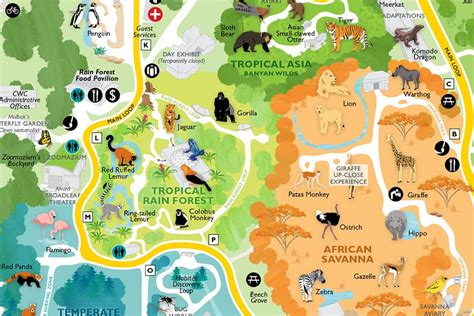seattle zoo map maps rentals dine and shop woodland park zoo seattle wa