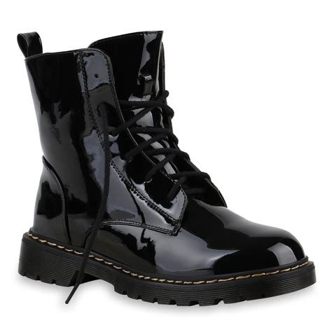 Lack Stiefeletten Damen by Damen Stiefeletten Lack Schn 252 Rstiefeletten Worker Boots