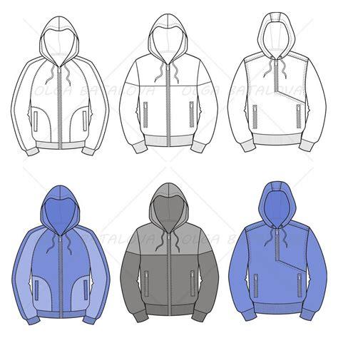 fashion illustration hoodie s hooded jacket fashion flat templates illustrator stuff