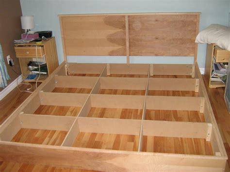 easy cheap diy hardwood king platform bed plans
