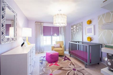 purple nursery decor purple and grey nursery contemporary nursery