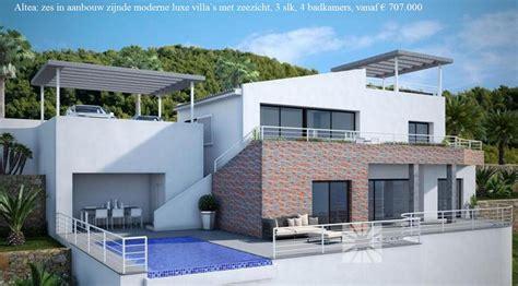moderne villa moderne luxe villa s te koop met zeezicht altea spanje