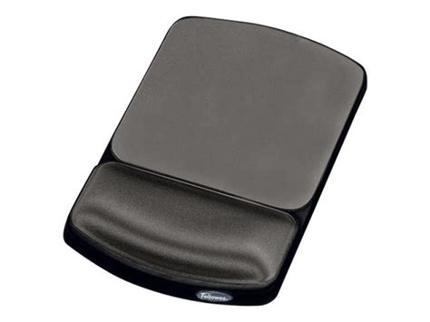 fellowes premium gel mouse pad wrist support graphite