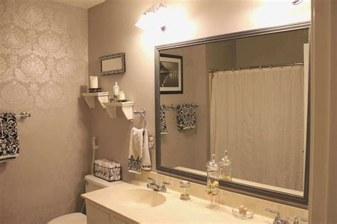 the stylish framing an existing bathroom mirror for house