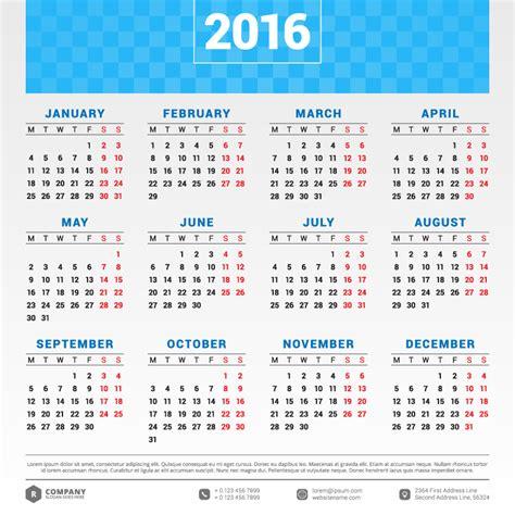 typography 2015 calendar blue banner typography calendar 2016 vector free vector