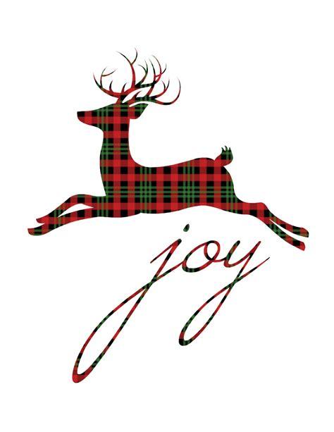 reindeer printable wall art 12 plaid buffalo check free christmas printables more