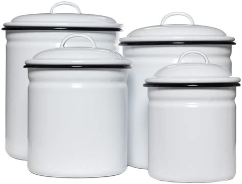 cheap kitchen canisters enamelware canister set wht blk sourpuss clothing