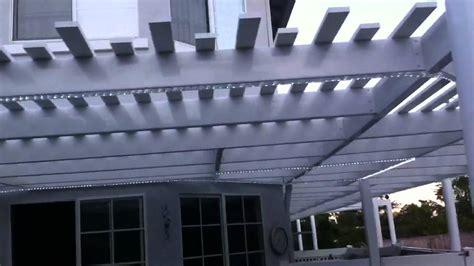 new patio cover with rope lights