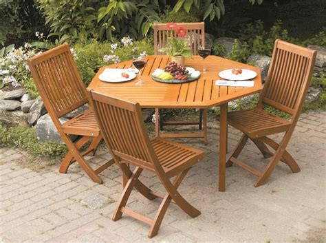 Wood Patio Table Set Outdoor Furniture Wood Patio Set Folding Garden Furniture
