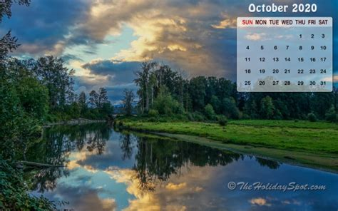 calendar wallpaper october  wallpapers  theholidayspot