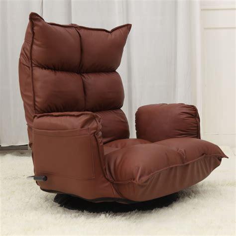 floor sofa chair floor recliner chair leather 360 degree swivel japanese