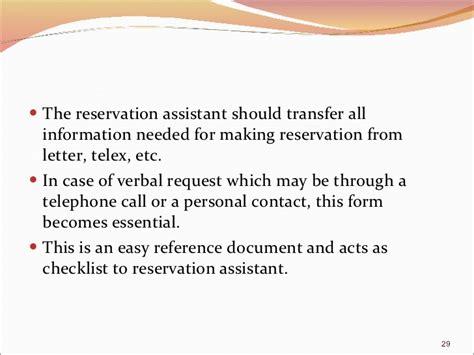 Reservation Letter In Restaurant Reservation