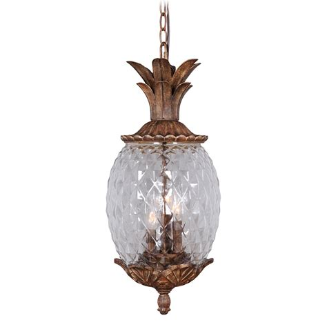pineapple pendant light mariana lighting 610223 3 light pineapple outdoor pendant