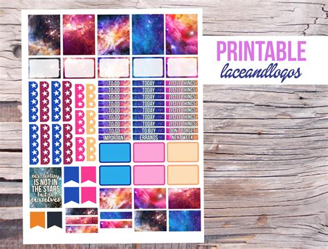 printable hipster stickers printable planner stickers galaxy space hipster stars sky