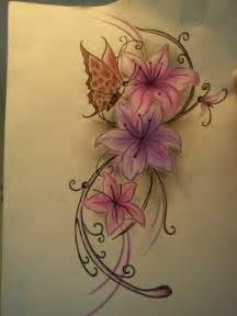 Blumen tattoo klappe die 2te nu schmetti anders farbe bitte