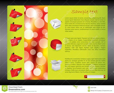 cool green products cool green red website design template royalty free stock