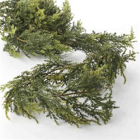 cedar garland artificial artificial cedar garland florals and