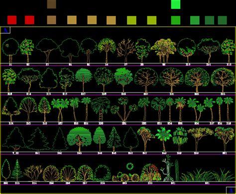 libreria dwg gratis imagen planos de bloques arboles en dwg autocad arboles