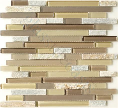 random bricks beige backsplash glossy and