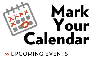 mark your calendar for these upcoming events 2014 15