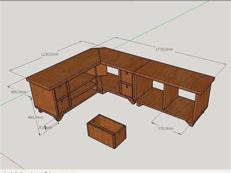 Plan Bureau D Angle by Plan Meuble Tv D Angle Par Peiot Sur L Air Du Bois