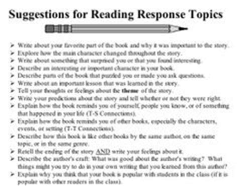 Response Letter Scientific Journal 1000 Images About Reading Responses On Reading Response Reading Journals And