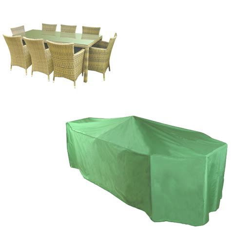 Patio Set Covers Rectangular by Rectangular Patio Set Cover 8 10 Seat Pvc Backed