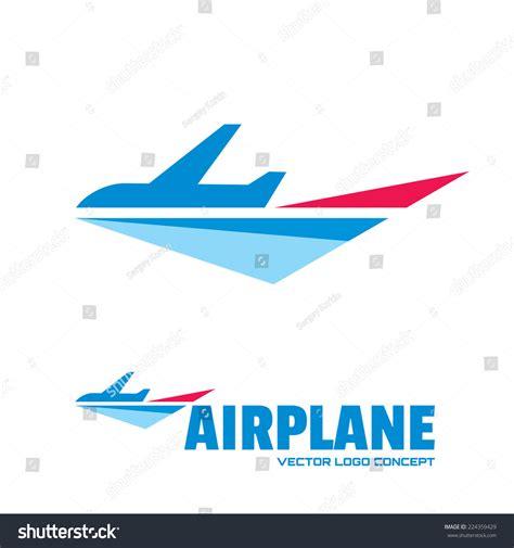 Vector Illustrations Design Concept Template airplane vector logo template concept illustration stock