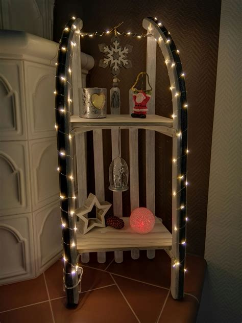 alten schlitten dekorieren schlitten weihnachtlich dekoriert diy advent