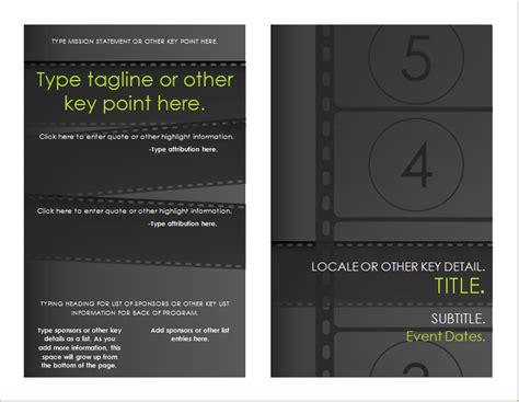 film festival brochure template for word document hub