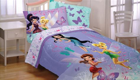 3pc Disney Fairies Butterfly Twin Sheet Set Purple Tinkerbell Bedding Set