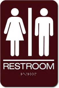 Bathroom Signs by Restroom Signs S S Unisex Air Delights