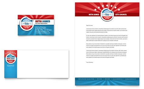 political templates political candidate business card letterhead template design