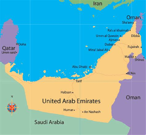 united arab emirates map umm al qaywayn map and umm al qaywayn satellite image