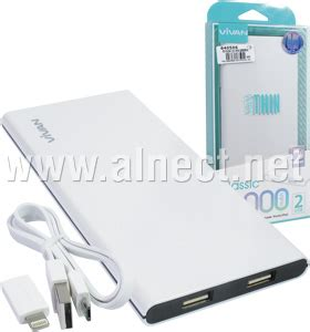 Vivan C10 Thin 10000mah 2 Usb Ports Power Bank White jual portable power bank vivan c10 thin 10000mah