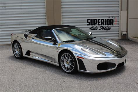 chrome f430 f430 spider wrap vinyl chrome wallpaper