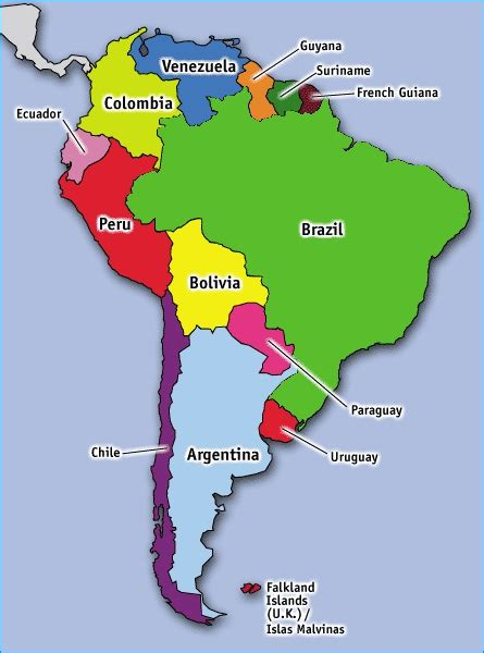 south america countries and capitals map discovering south american countries travelbackpackbags