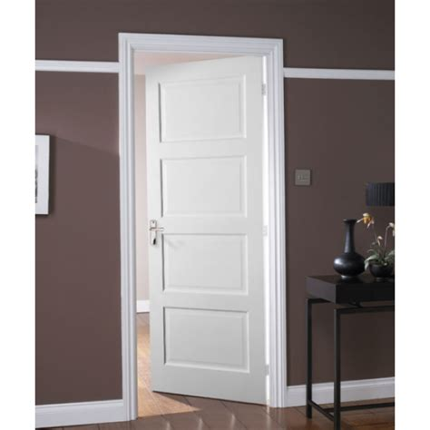 4 Panel White Interior Doors Jeld Wen Avesta White Primed 4 Panel Shaker Door Leader Stores