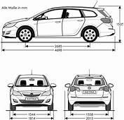 Opel Astra Sports Tourer 2011 Blueprint  Download Free