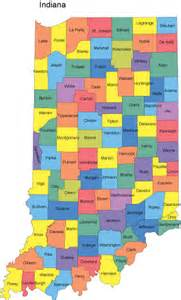home state county indiana map with counties