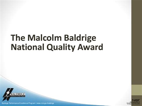 baldrige homepage baldrige national quality program tqm awards iso benchmarking