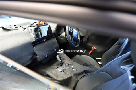 toyota supra interior 2019 toyota supra spied on nurburgring mbworld org forums