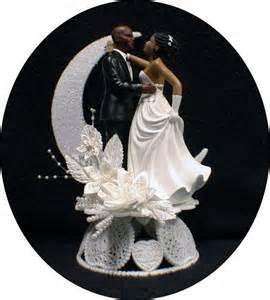 black wedding cake toppers bald hispanic black american groom and wedding cake topper ebay