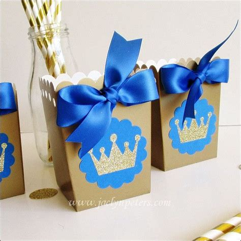Royal Themed Baby Shower Favors by Royal Prince Popcorn Favor Boxes Popcorn Favors Royal